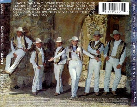 Grupo Límite - Sentimientos (1997) back