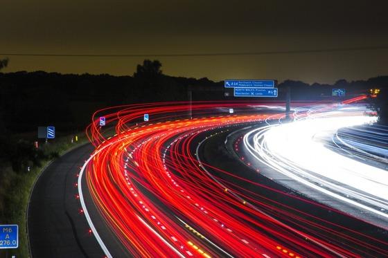 long-exposure-of-road-at-night
