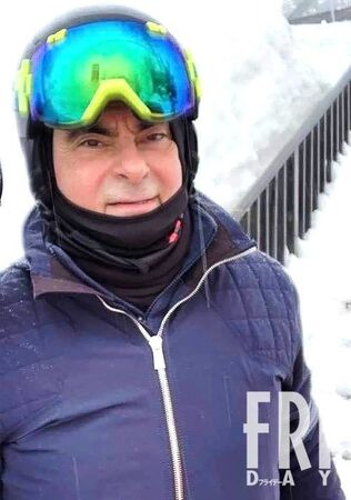 カルロス・ゴーン被告、優雅にスキーを楽しむwwwww