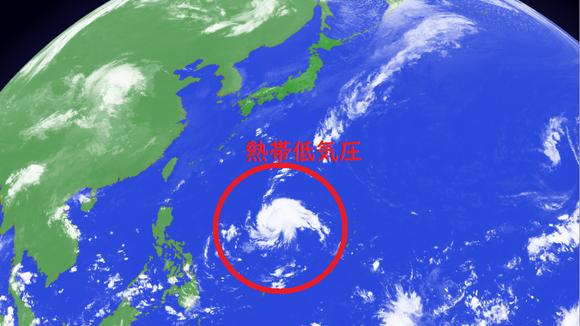 フィリピンの東海上に新たな熱帯低気圧が発生