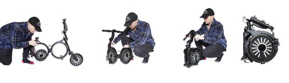 バックパックに入れて運べる折り畳み電動スクーター「ORGO」、フル充電で約19km走行
