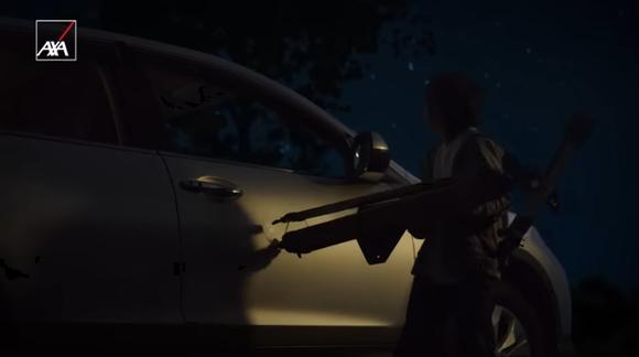 子供が望遠鏡を車にぶつけて「大丈夫だよ」って親が優しい自動車保険のCMあるじゃん?