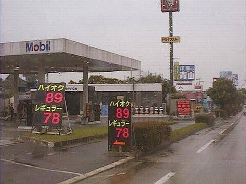 昔のガソリン、安過ぎる