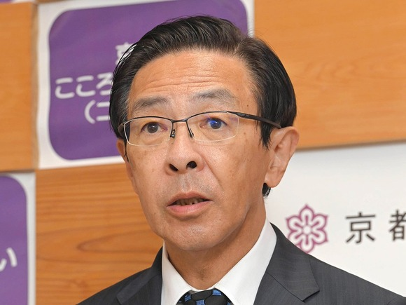 「京都は感染拡大地域外」府知事が認識示す、GoToトラベル対象外の基準に当たらないと主張