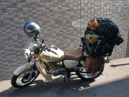 初めてバイク買ったから京都までキャンツーしてくる
