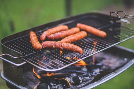 sausages-on-barbecue
