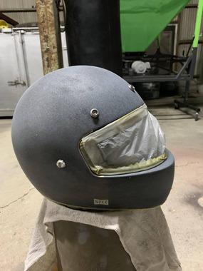 バイクのヘルメット塗装したよー