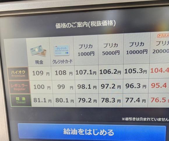 【朗報】ガソリンがついに100円/L切ってしまう