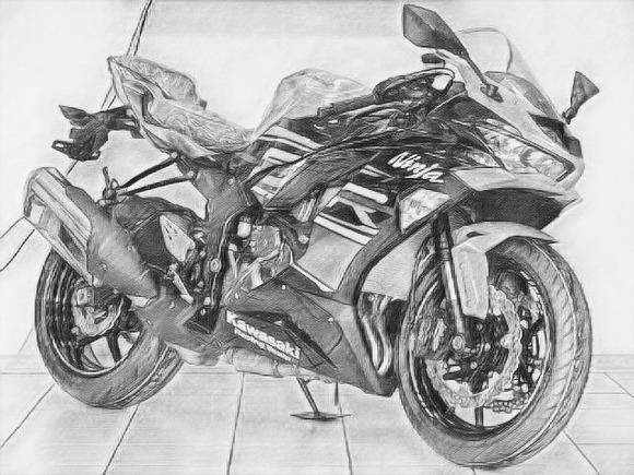 全力でバイクの絵を描いてみた