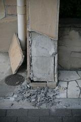 震災直後・ウチの近所の新築マンションも・・