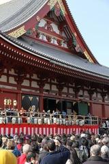 豆まき2013at浅草寺