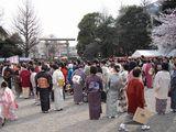 浅草神社にて・隅田川きもの園遊会2009