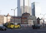 改装中の東京駅丸の内口