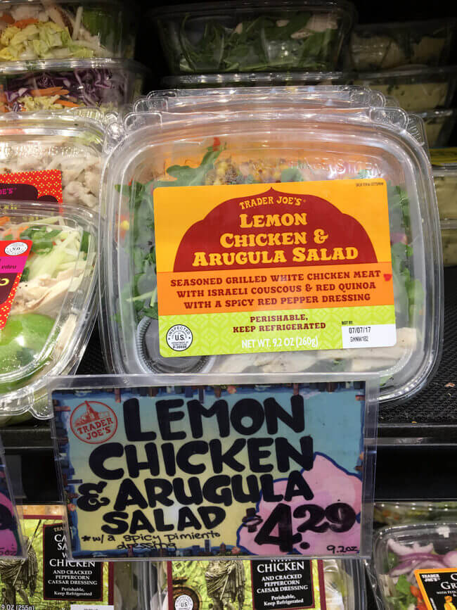 LEMON CHICKEN & ARUGULA SALAD - TRADER JOE'S