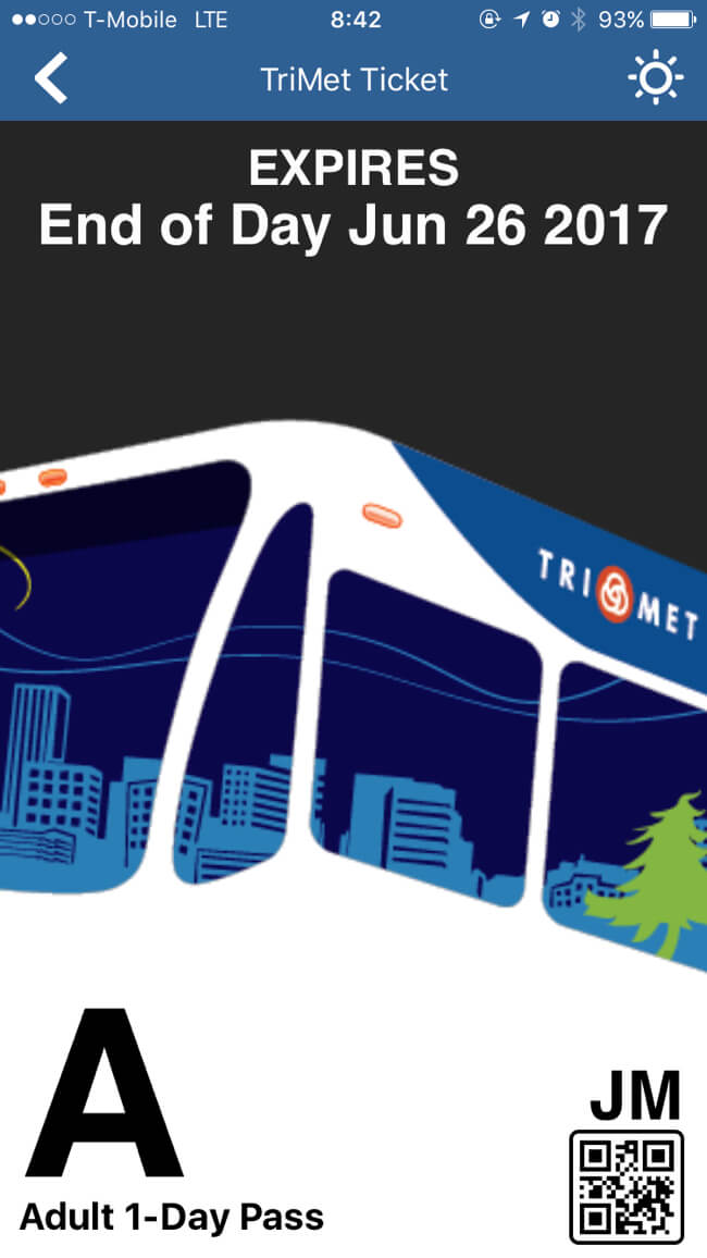 TriMet バスチケット