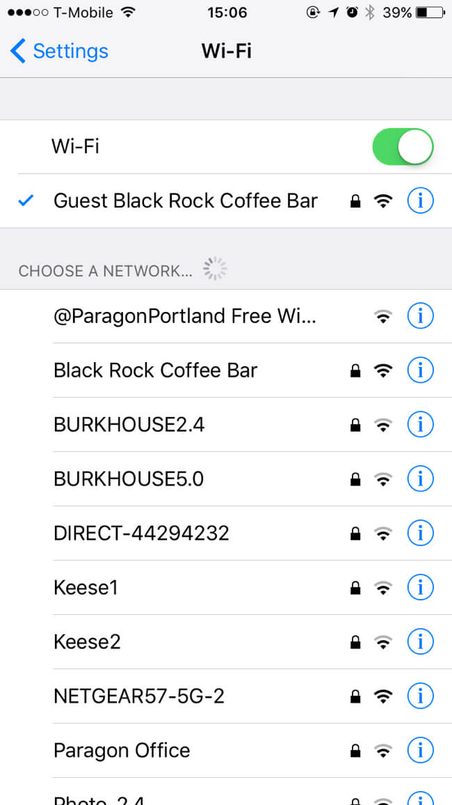Guest Wi-Fi | Black Rock Coffee Bar (ブラックロックコーヒーバー) | Portland