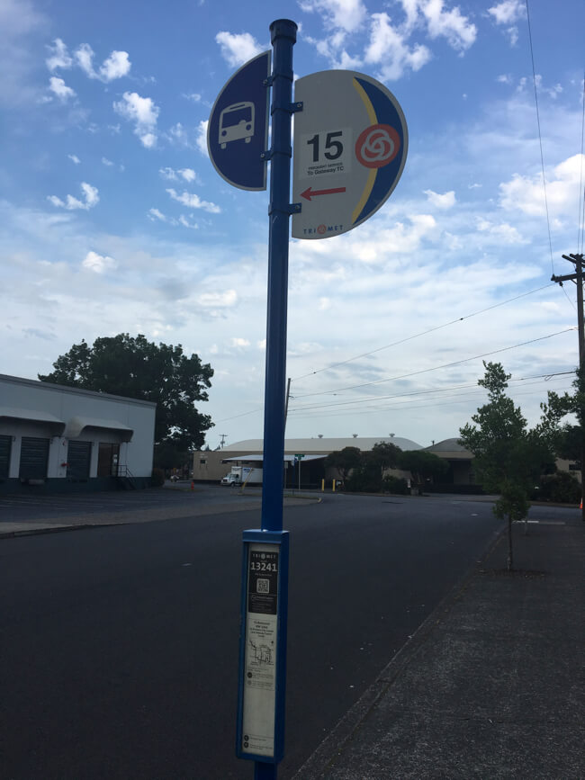 TriMet バス停