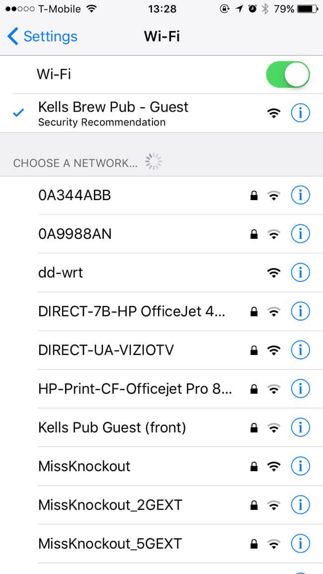 Guest Wi-Fi | Kells Brewery