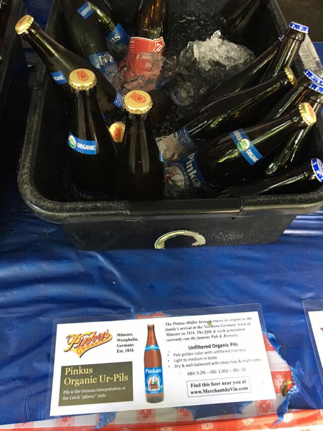 色んなビールを選べるポートランド・インターナショナル・ビアフェス