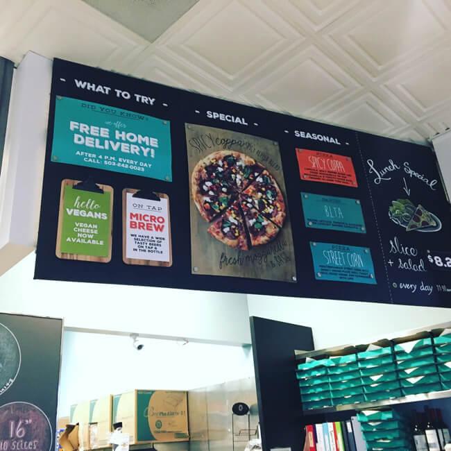 Pizzicato Pizza 店の内観
