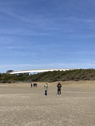 20210227 J2開幕直前幕張の浜で凧揚げ3
