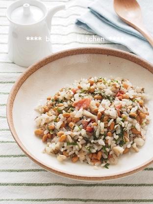 梅しそ納豆チャーハン1