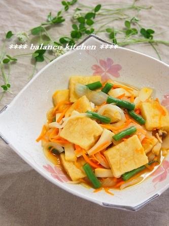 高野豆腐と野菜の麺つゆびたし