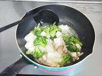 ブロッコリーと豆腐のしょうがあん工程3