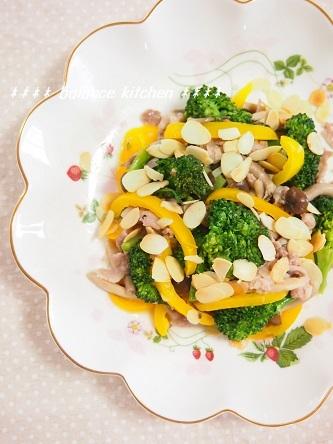 豚肉と彩野菜のレモンガーリック炒め2