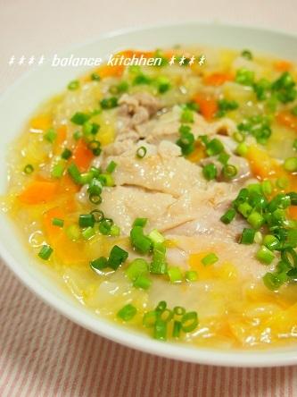 蒸し鶏白菜あんかけ1