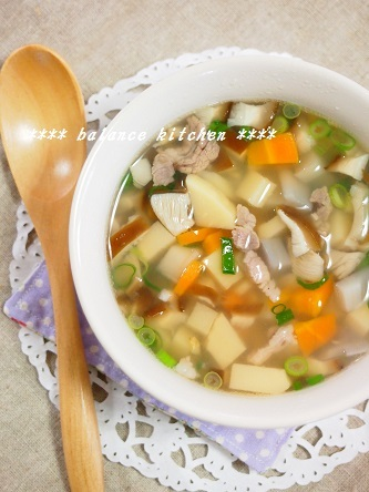 蓮根とコロコロ野菜のエスニックスープ2