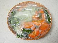 絹揚げと野菜の甘酢あん工程1