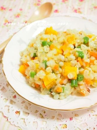 押し麦と野菜のリゾット4
