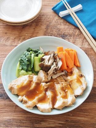 さっぱりレンジ鶏チャーシュー3