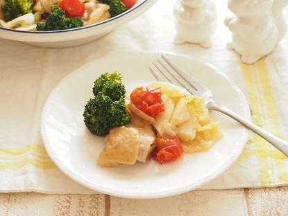 鶏肉とキャベツのガーリック蒸し ブログ3