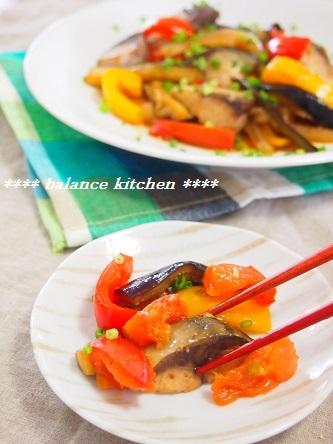 塩サバと茄子のフレッシュトマト炒め3