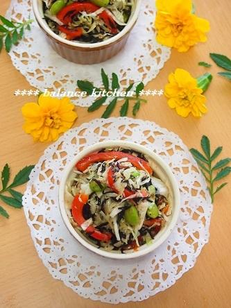 ひじき入りキャベツとツナのサラダ2