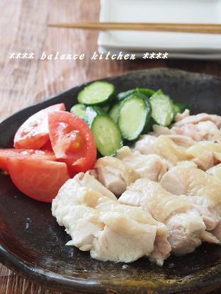 レンジ蒸し鶏2