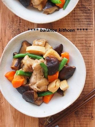 鶏肉とたっぷりしいたけの煮物4