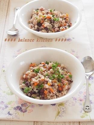 小豆と押し麦のリセットリゾット ブログ