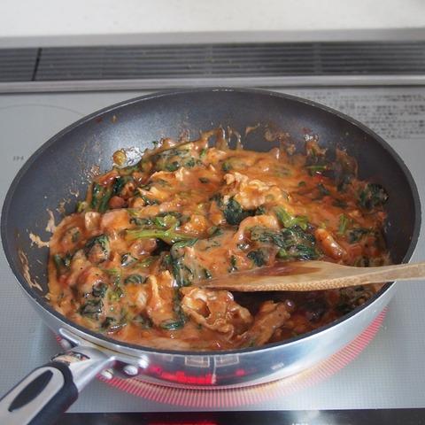 豚肉のトマトクリーム煮 行程4