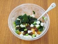 長芋とわかめの麺つゆジュレサラダ工程2