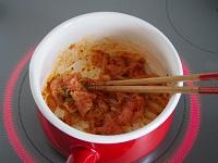 豆乳キムチの玄米スープ行程1