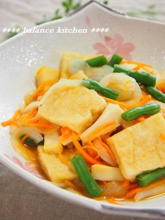 高野豆腐と野菜の麺つゆびたし3