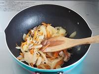 大豆入り豚キムチ工程1