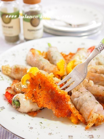 チーズ羽付き 夏野菜のしそ入り肉巻き5