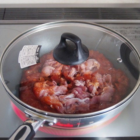 豚肉のトマトクリーム煮 行程2