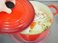 鶏肉とキャベツのしょうが風味スープ工程2