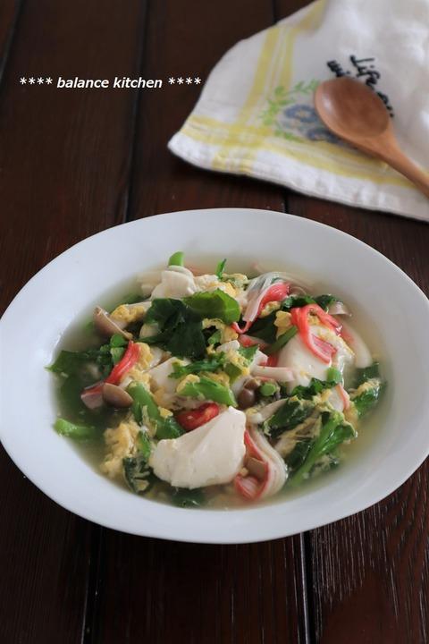 菜の花と卵のスープ1