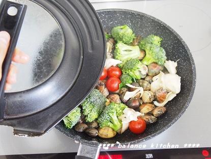 あさりと野菜のフライパン蒸し2